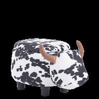 Детска табуретка с ракла - черно-бяла кравичка