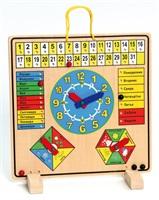 Дървен календар+часовник Български 6201