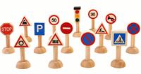 Комплект пътни знаци и светофар h7см