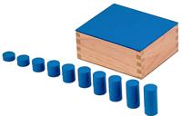 40 Монтесори цилиндри в 4 дървени цв. кутии